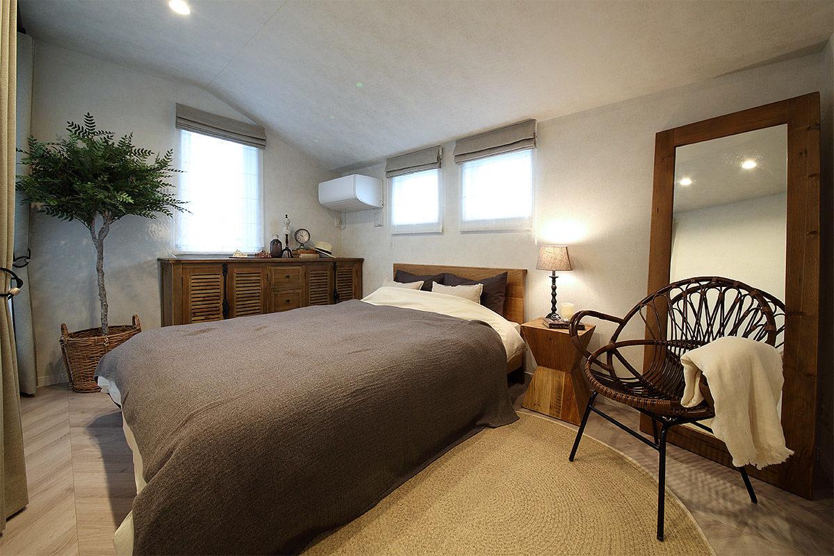 コラボモデルハウス「東村山青葉町街角モデルハウス」納品事例 寝室写真