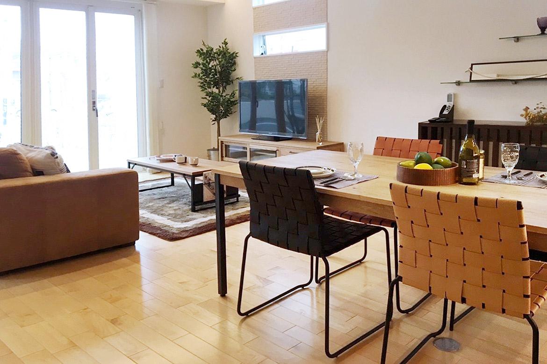 クラッシュゲート博多店、モデルハウスへの家具インテリア納品写真001